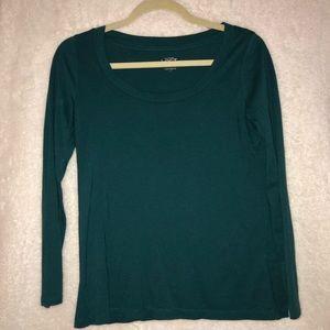 Turquoise Loft Long Sleeved Shirt - Petite